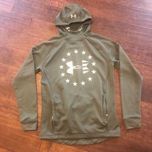 Army Green Under Armour hoodie